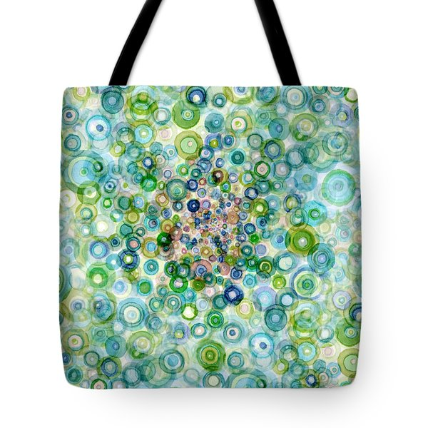 Teal And Olive Concavity Tote Bag