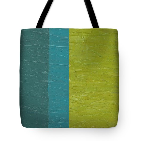 Teal And Olive  Tote Bag by Michelle Calkins