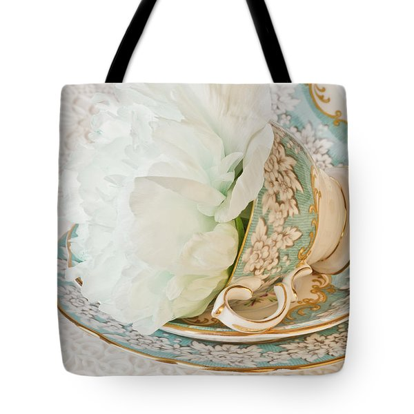 Teal Peony For Real  Tote Bag
