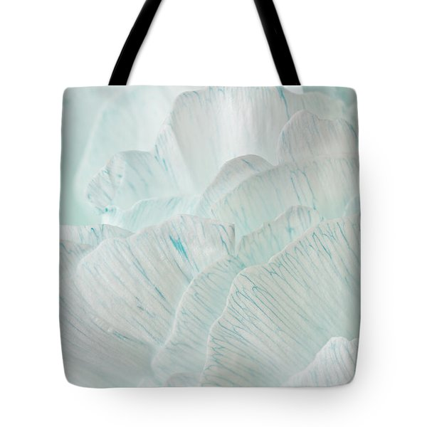 Teal Peony Tote Bag