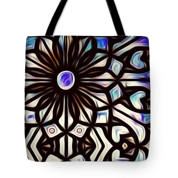 Teal Purple Vibe Tote Bag