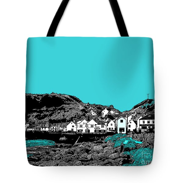 Teal Staithes Tote Bag