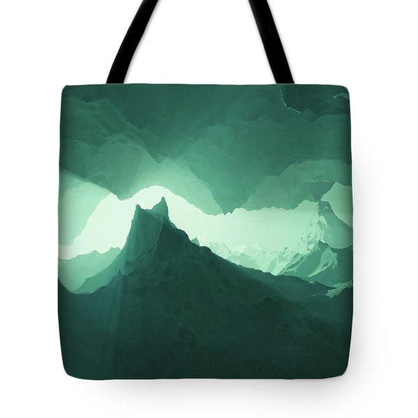 Teal Surreal Tote Bag