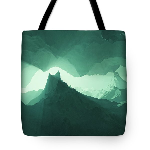 Teal Surreal Tote Bag