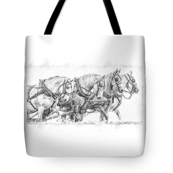 Tote Bag featuring the digital art Team Work by Brad Allen Fine Art