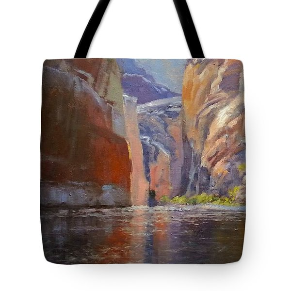 Teapot Point Colorado River Tote Bag