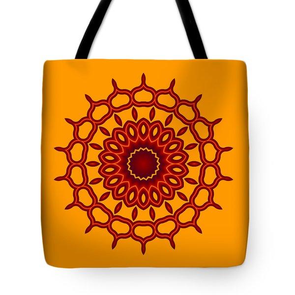Teardrop Fractal Mandala Tote Bag
