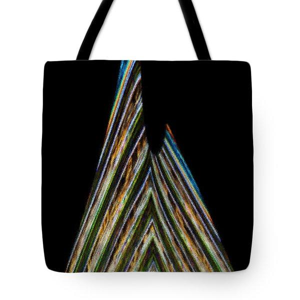 Tote Bag featuring the digital art Teardrop by Wendy Wilton