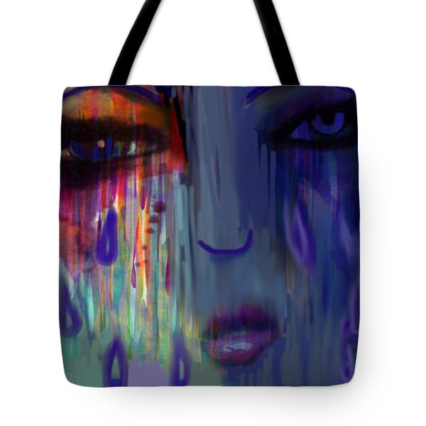 Tote Bag featuring the digital art Tearful  Dream by Diana Riukas