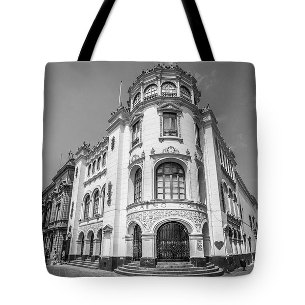 Tote Bag featuring the photograph Teatro Colon Lima by Gary Gillette