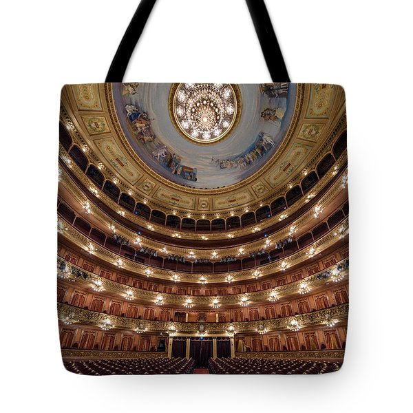 Teatro Colon Performers View Tote Bag by Randy Scherkenbach