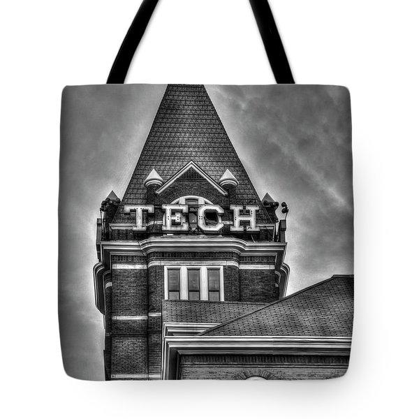 Tech B W Georgia Institute Of Technology Atlanta Georgia Art Tote Bag
