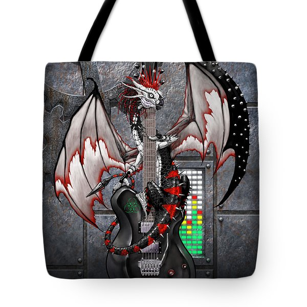 Tech-n-dustrial Music Dragon Tote Bag