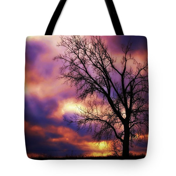 Techicolor Sunset Tote Bag