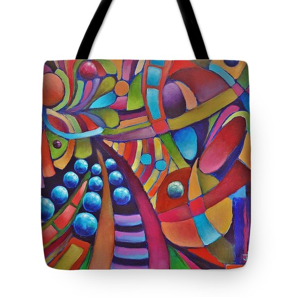 Technicolor Bloom Tote Bag