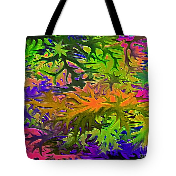 Technicolor Leaves Tote Bag by Patricia Griffin Brett