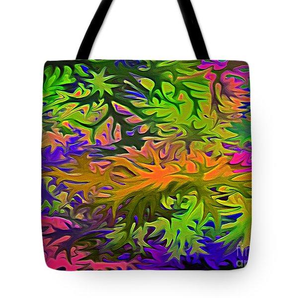 Technicolor Leaves Tote Bag