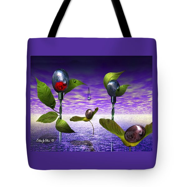 Techno Nature - Flower Drills Tote Bag by Billie Jo Ellis
