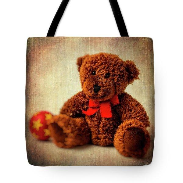 Teddy Bear And Ball Tote Bag
