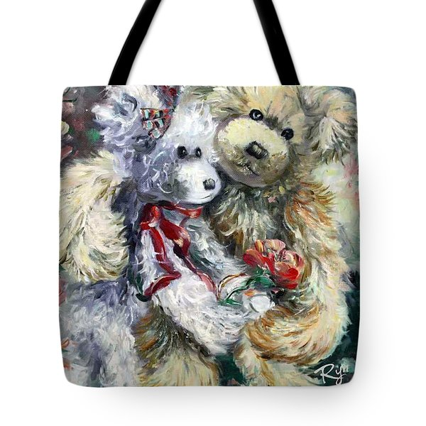 Teddy Bear Honeymooon Tote Bag
