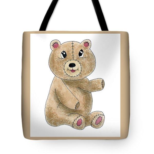 Teddy Bear Watercolor Painting Tote Bag