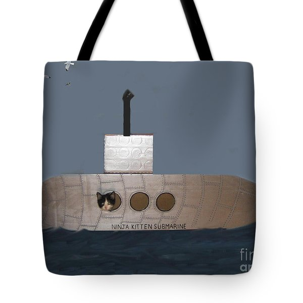Teddy In Submarine Tote Bag by Reb Frost