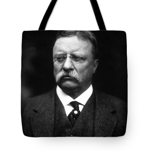 Teddy Roosevelt Tote Bag by War Is Hell Store