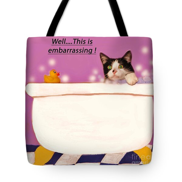 Teddy The Ninja Cat Up Close And Personal Tote Bag by Reb Frost