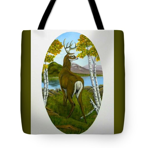 Teddy's Deer Tote Bag by Sheri Keith
