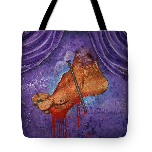 Tote Bag featuring the painting Tedious Journey by Christopher Marion Thomas