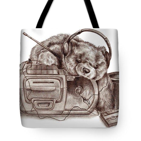 Teenage Bear Tote Bag