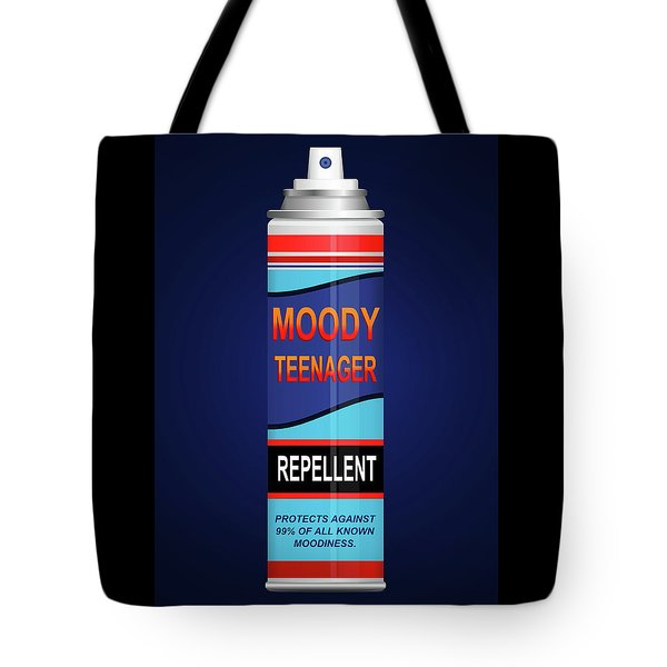 Teenage Moodiness Repellent. Tote Bag