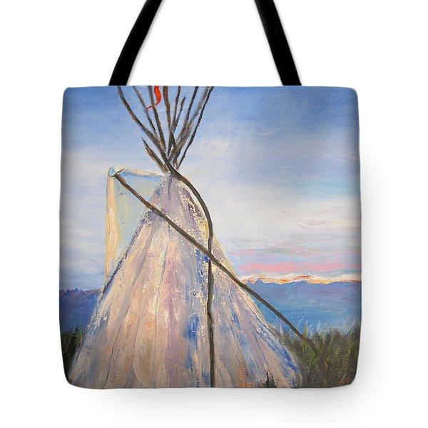 Teepee Dawn Tote Bag