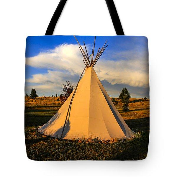 Teepee In Montana Tote Bag