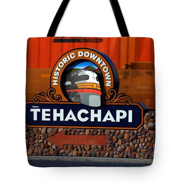 Tehachapi Signage Tote Bag by Wernher Krutein