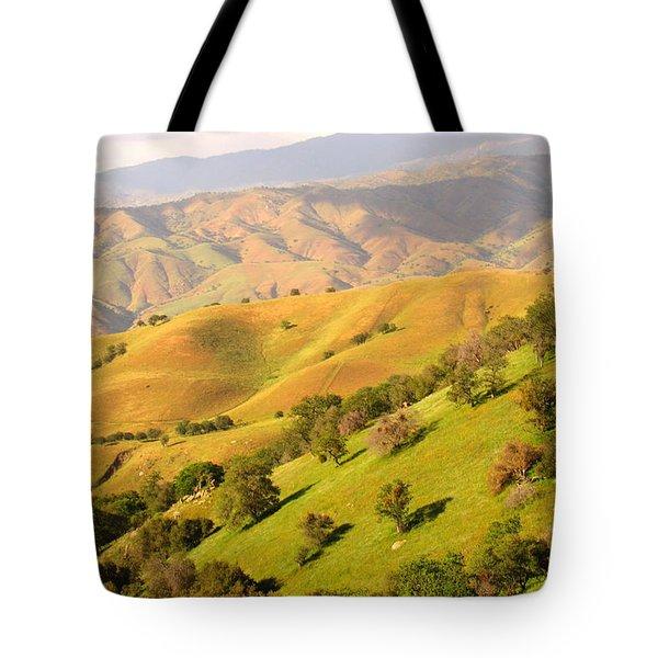 Tehachapi Topography Tote Bag