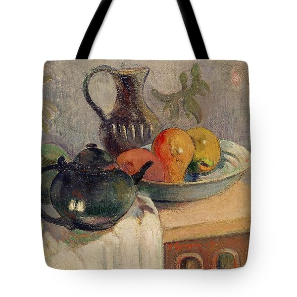 Teiera Brocca E Frutta Tote Bag by Paul Gauguin