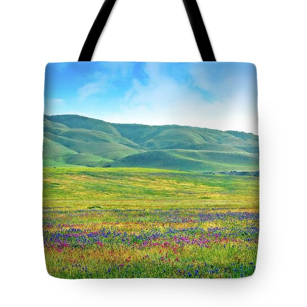 Tejon Ranch Wildflowers Tote Bag