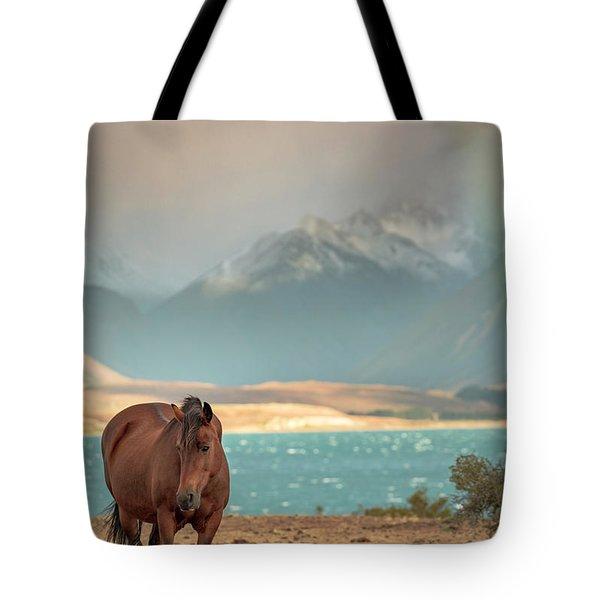 Tekapo Horse Tote Bag