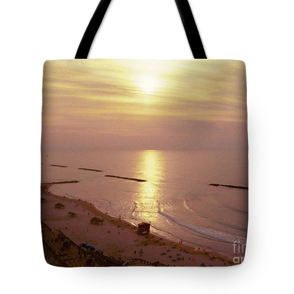 Tel Aviv Beach Morning Tote Bag