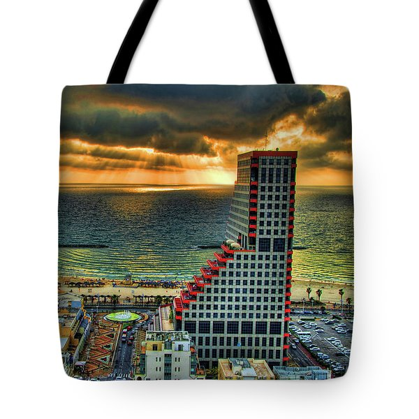 Tote Bag featuring the photograph Tel Aviv Lego by Ron Shoshani