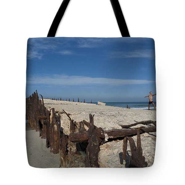 Tote Bag featuring the photograph Tel Aviv Old Port 2 by Dubi Roman