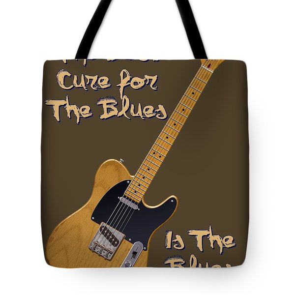 Tele Blues Cure Tote Bag