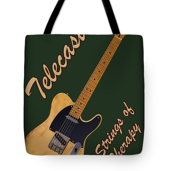 Telecaster Therapy T-shirt Tote Bag
