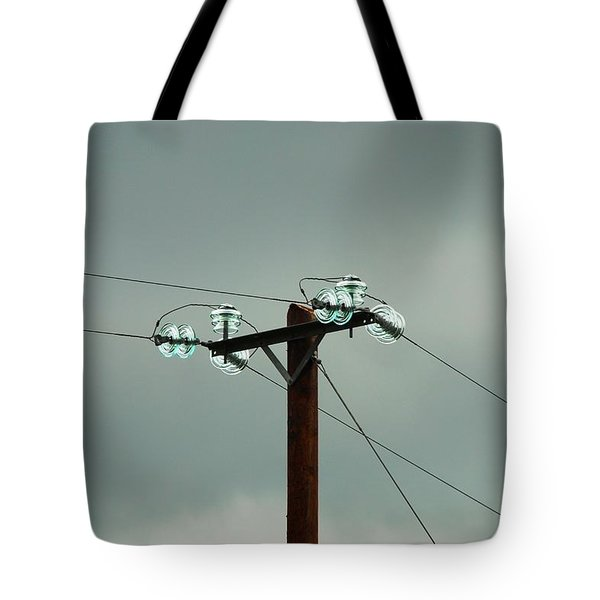 Telegraph Lines Tote Bag by Charlie and Norma Brock