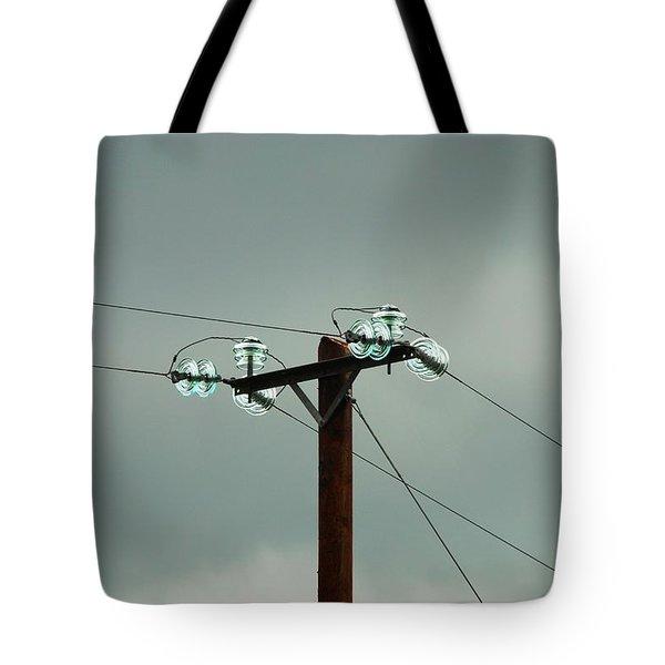 Telegraph Lines Tote Bag