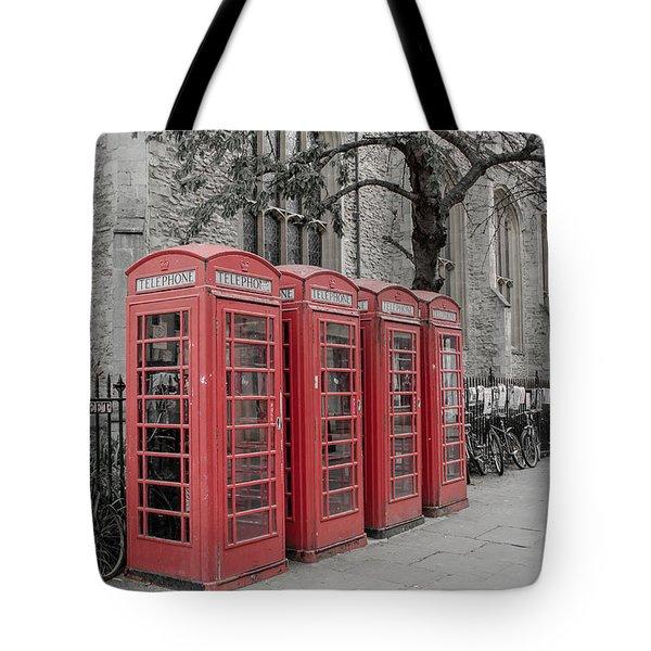 Telephone Boxes Tote Bag