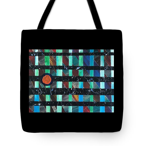 Tote Bag featuring the painting Television by Robbie Masso