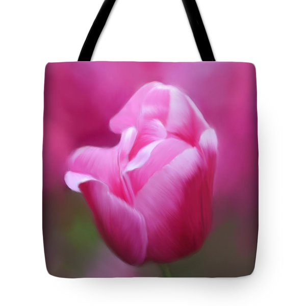 Tell Your Heart To Beat Again - Flower Art Tote Bag