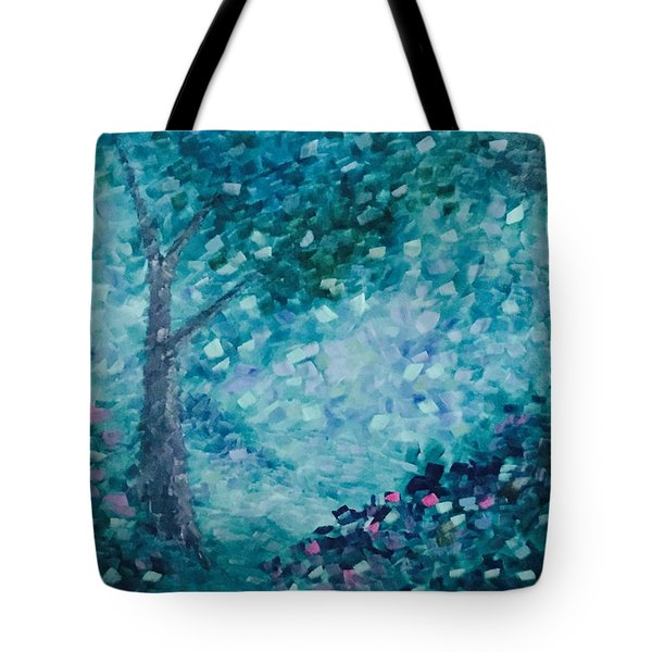 Tote Bag featuring the painting Tealing Life by Steven Lebron Langston